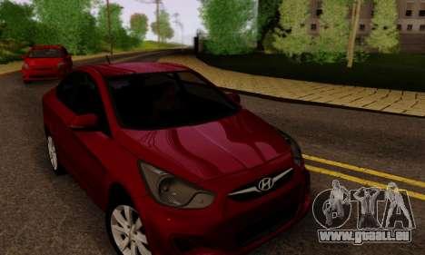 Hyndai Solaris pour GTA San Andreas roue