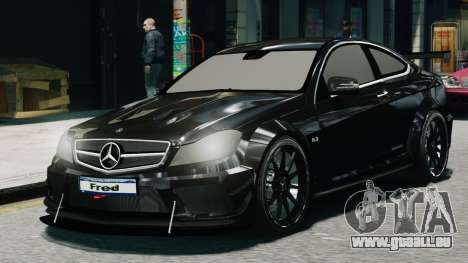 Mercedes-Benz C63 AMG Black Series 2012 pour GTA 4