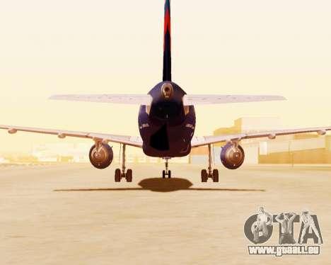 Airbus A320-200 Aeroflot für GTA San Andreas Seitenansicht