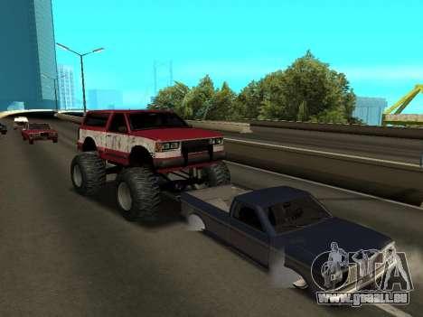 Street Monster pour GTA San Andreas vue de dessus