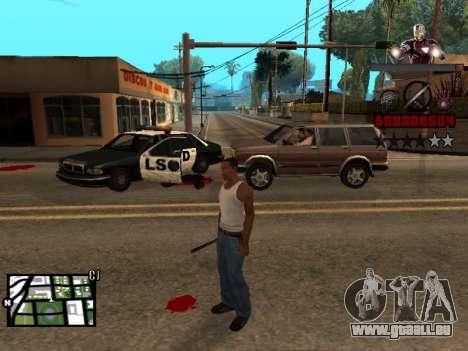 C-de la PALETTE de l'homme de Fer pour GTA San Andreas deuxième écran