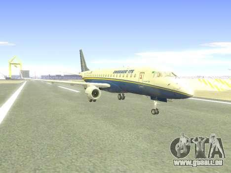 Embraer 175 HOUSE pour GTA San Andreas sur la vue arrière gauche
