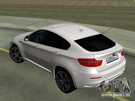 BMW X6M 2010 pour GTA San Andreas vue de droite