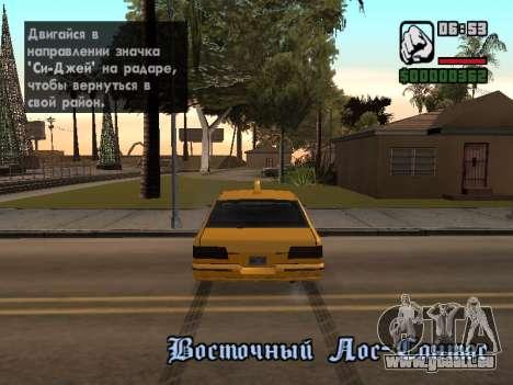 AutoDriver pour GTA San Andreas troisième écran