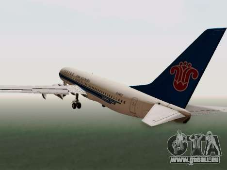China Southern Airlines Boeing 737-800 für GTA San Andreas Innenansicht