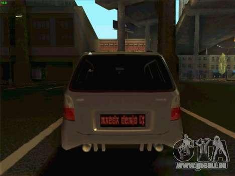 Mazda Demio 1998 pour GTA San Andreas sur la vue arrière gauche