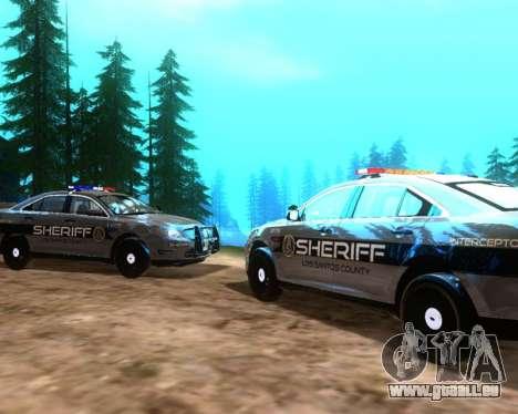 Ford Interceptor Los Santos County Sheriff für GTA San Andreas rechten Ansicht