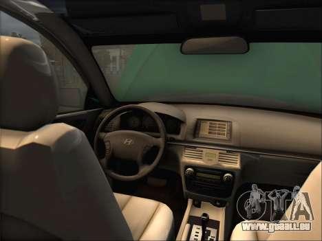 Hyundai Sonata 2009 pour GTA San Andreas laissé vue