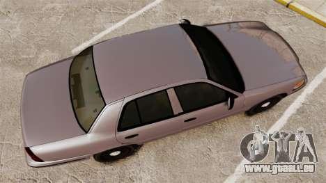 Ford Crown Victoria 2008 LCPD Detective [ELS] pour GTA 4 est un droit