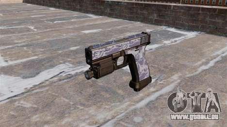 Le Pistolet Glock 20 Tigre Bleu pour GTA 4 troisième écran