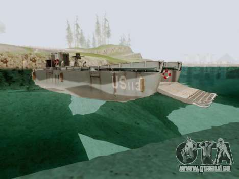 Landing Craft für GTA San Andreas rechten Ansicht