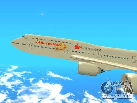 Boeing 747 Air China für GTA San Andreas zurück linke Ansicht