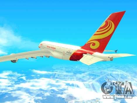 A380-800 Hainan Airlines pour GTA San Andreas laissé vue