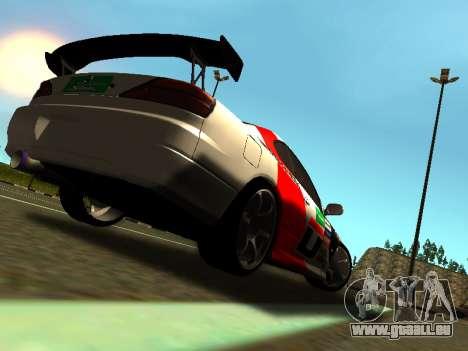 Nissan Silvia S15 Team Dragtimes pour GTA San Andreas vue de droite