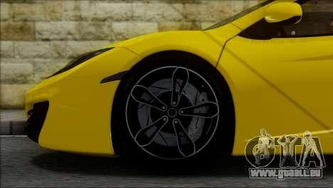 McLaren MP4-12C Spider für GTA San Andreas Innenansicht