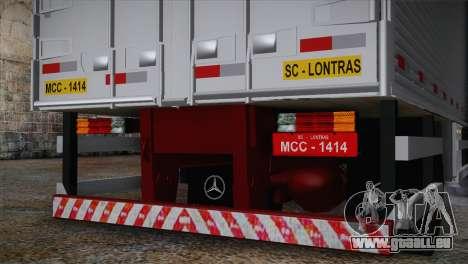 Mercedes-Benz 1313 für GTA San Andreas zurück linke Ansicht