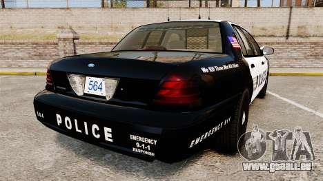Ford Crown Victoria LCPD [ELS] pour GTA 4 Vue arrière de la gauche