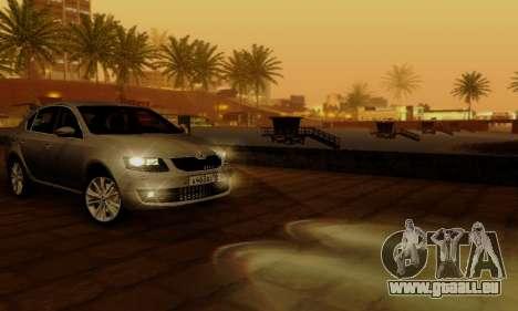 Skoda Octavia A7 für GTA San Andreas Innen