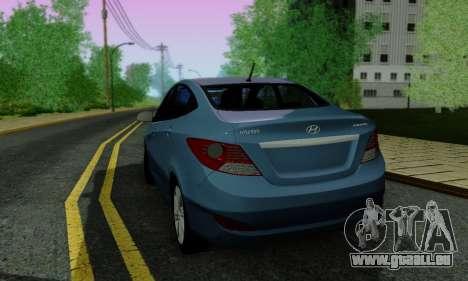 Hyndai Solaris pour GTA San Andreas moteur