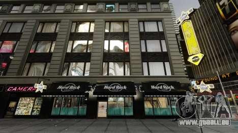 Le Hard Rock café de times square pour GTA 4 secondes d'écran