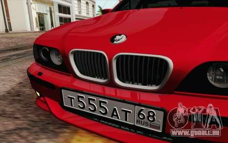 BMW M5 E39 2003 pour GTA San Andreas vue intérieure