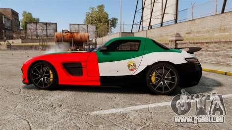 Mercedes-Benz SLS 2014 AMG UAE Theme für GTA 4 linke Ansicht