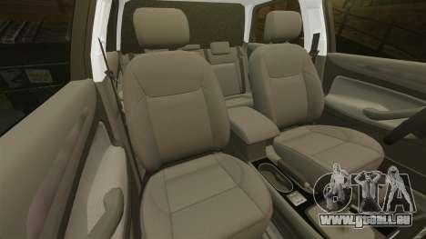 Ford Mondeo Hungarian Police [ELS] pour GTA 4 est une vue de dessous