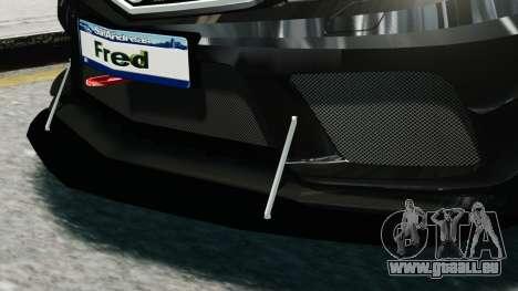 Mercedes-Benz C63 AMG Black Series 2012 für GTA 4 Rückansicht