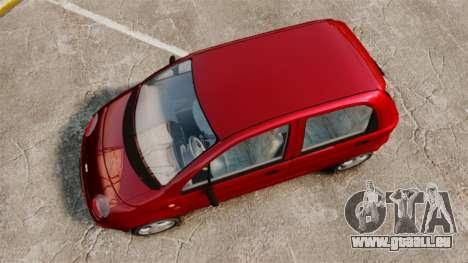 Daewoo Matiz SE 1998 pour GTA 4 est un droit