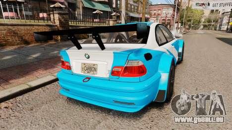 BMW M3 GTR 2012 Most Wanted v1.1 für GTA 4 hinten links Ansicht