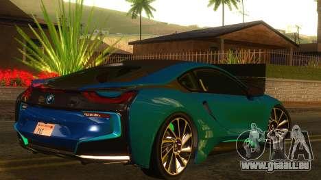 BMW I8 2013 pour GTA San Andreas laissé vue