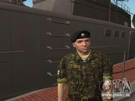 Le Corps des marines des forces armées de l'Ukra pour GTA San Andreas cinquième écran