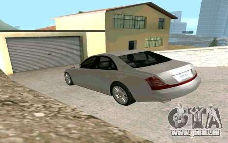 Maybach 57 TT Black Revel für GTA San Andreas linke Ansicht