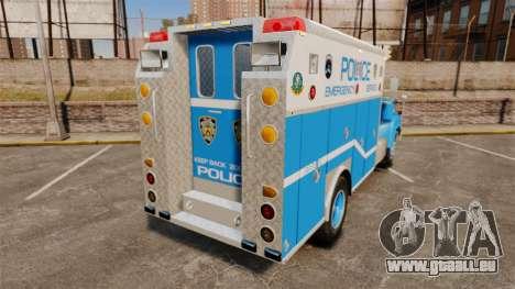 Mack R Bronx 1993 NYPD Emergency Service für GTA 4 hinten links Ansicht