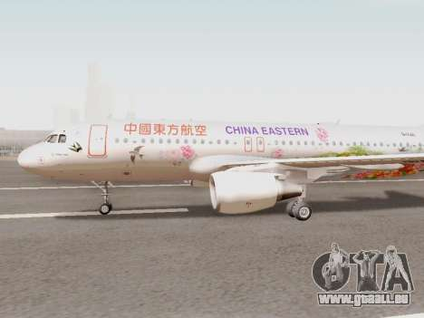 Airbus A320-211 China Eastern pour GTA San Andreas laissé vue