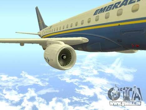 Embraer 175 HOUSE pour GTA San Andreas vue de droite