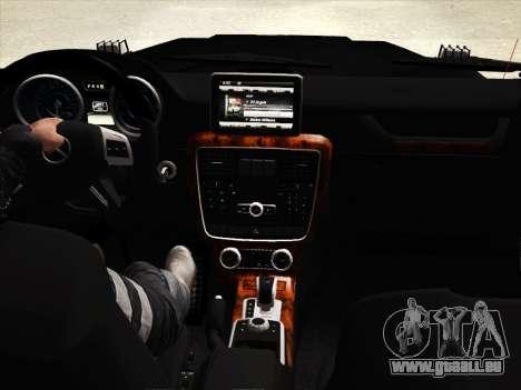 Mercedes-Benz G65 AMG 2013 für GTA San Andreas obere Ansicht