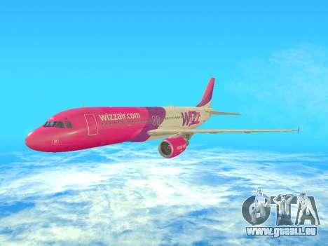 Airbus A320-200 WizzAir für GTA San Andreas linke Ansicht