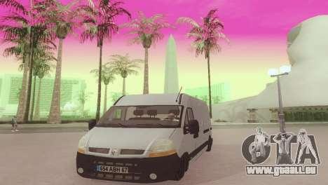 Renault Master für GTA San Andreas Rückansicht