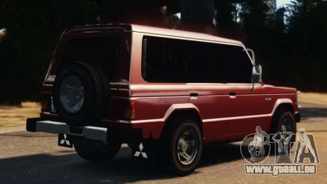 Mitsubishi Pajero I WAGON für GTA 4 linke Ansicht