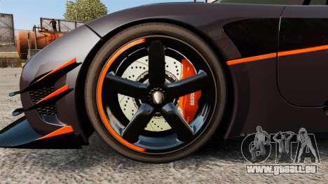 Koenigsegg One:1 für GTA 4 Rückansicht