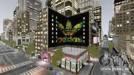 Grosse publicité Adidas Originals pour GTA 4