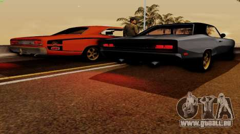 Dodge Coronet RT 1969 440 Six-pack für GTA San Andreas obere Ansicht