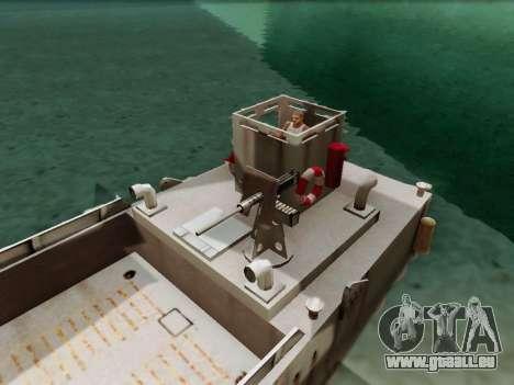Landing Craft für GTA San Andreas Rückansicht