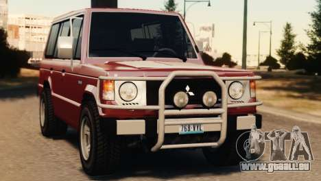 Mitsubishi Pajero I WAGON für GTA 4 hinten links Ansicht