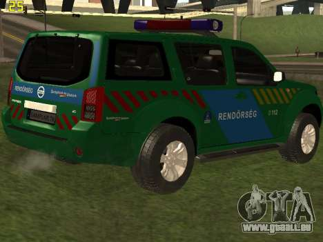 Nissan Pathfinder Police pour GTA San Andreas moteur