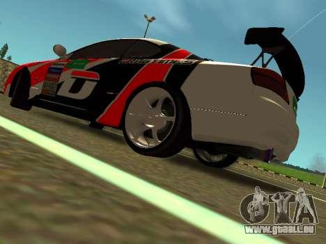 Nissan Silvia S15 Team Dragtimes pour GTA San Andreas sur la vue arrière gauche