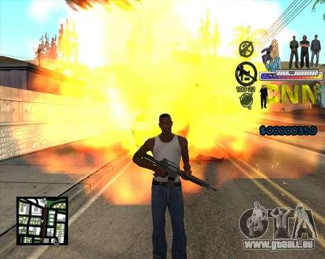 C-HUD CNN pour GTA San Andreas troisième écran