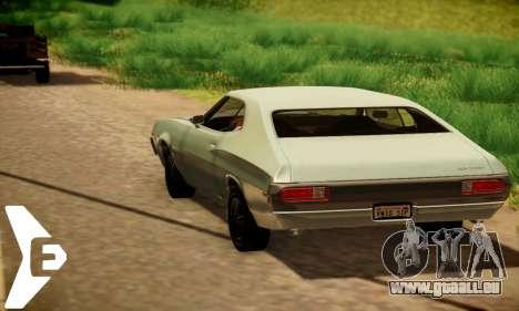 Ford Gran Torino 1972 für GTA San Andreas Rückansicht