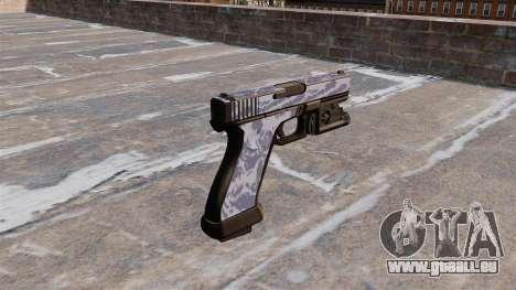 Le Pistolet Glock 20 Tigre Bleu pour GTA 4 secondes d'écran